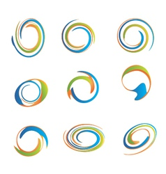 Set of swirls vector image