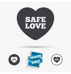 Safe love sign icon safe sex symbol vector