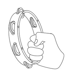 A tambourine that produces a melodic sound vector