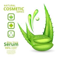 Aloe Vera Cosmetics Concept vector image