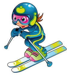 Baby Skier vector image