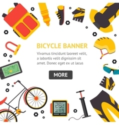 Bicycle and accessories banner vector