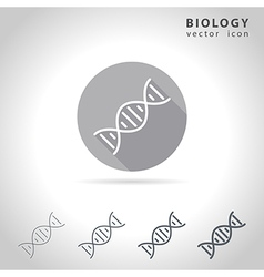 Biology outline icon vector
