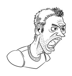 Cartoon image of shouting man vector
