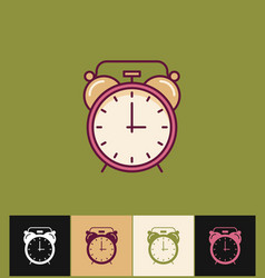 clock icon flat on different vector image