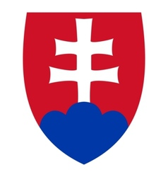 coat of arms of Slovakia vector image vector image