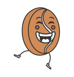 coffee grains kawaii character vector image