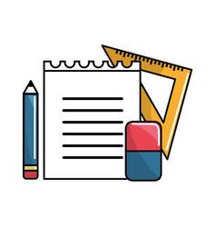 Color school tools icon vector