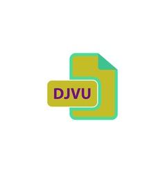 DJVU Icon vector image