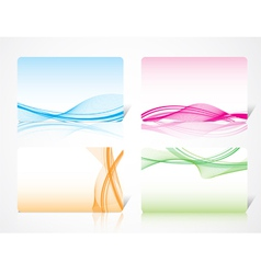 dynamic abstract card template vector image vector image