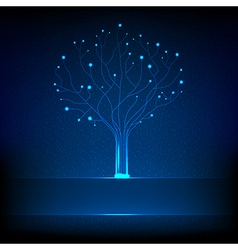 Fibre optical tree vector