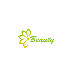 flower abstract beauty logo vector image