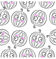 fruit doodle style vector image vector image