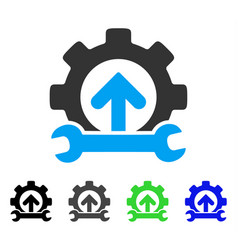 Gear integration tools flat icon vector