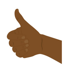 Hand all good dark skin icon vector