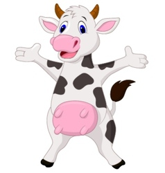 Happy cow cartoon vector