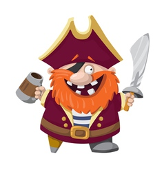 happy pirate vector image
