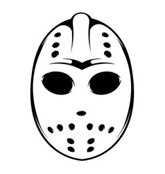 Hockey mask icon icon cartoon vector