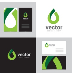 Logo design element with two business cards - 13 vector image vector image
