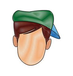 Male head person cartoon avatar image vector