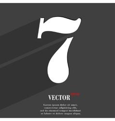 number seven icon symbol Flat modern web design vector image