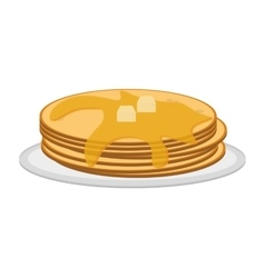 pancakes on plate icon vector image