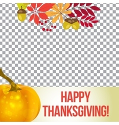 photo frame for thanksgiving autumn vector image vector image