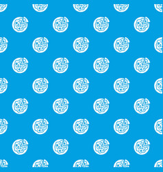 Pizza food pattern seamless blue vector