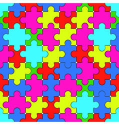Puzzle pattern vector image vector image