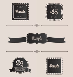 Shabby chic design elements frames and dividers vector