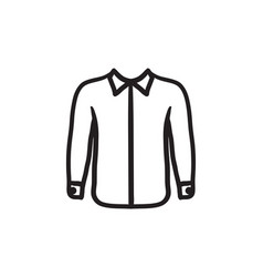 shirt sketch icon vector image vector image