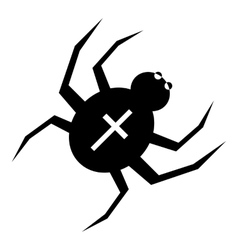 Spider with cross on back icon simple style vector