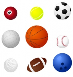 sports balls2 vector image vector image
