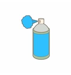 Spray bottle with gas cloud icon cartoon style vector
