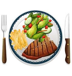 Steak vector image vector image