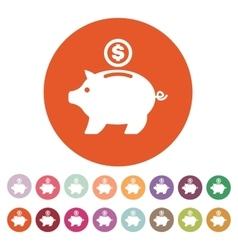 The moneybox icon Cash and money wealth savings vector image vector image