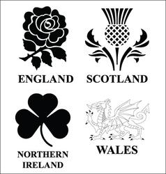 United Kingdom emblems vector image