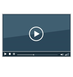 Video Movie Media Player vector image