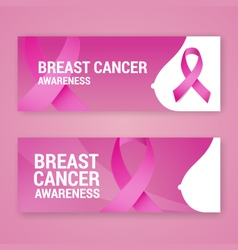 National breast cancer awareness banner design vector