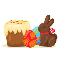 Traditional easter treats isolated vector