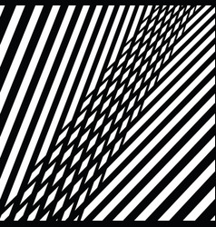 Black and white abstract diagonal stripes pattern vector