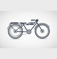 Vintage retro motorcycle vector