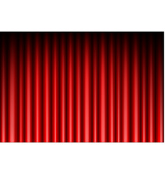 curtain of red background vector image