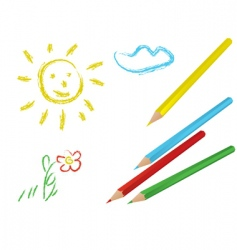 child drawing vector image