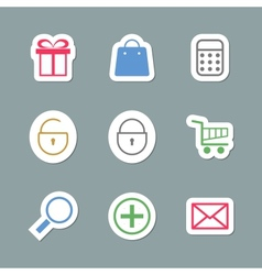 Shopping icons as labes vector