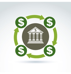 Banking symbol financial system icon circulation vector