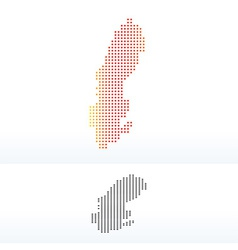 Map of kingdom sweden with dot pattern vector