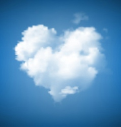 Heart shape cloudscape vector