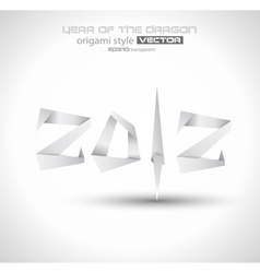 origami 2012 vector image