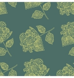 Seamless pattern with yellow flowers vector
